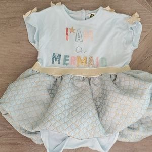 Baby girl Onsie Mermaid Dress